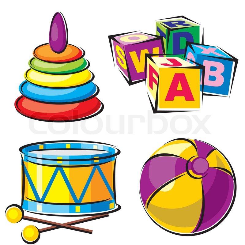 Kinderspielzeug stock vektor colourbox