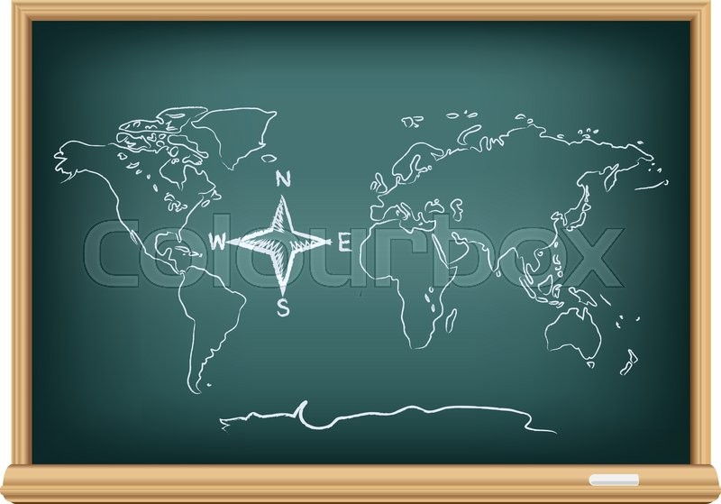 Studying geography map drawing world and compass wind rose on north south east west vector stock vector of studying geography map drawing world and compass wind rose on education publicscrutiny Image collections