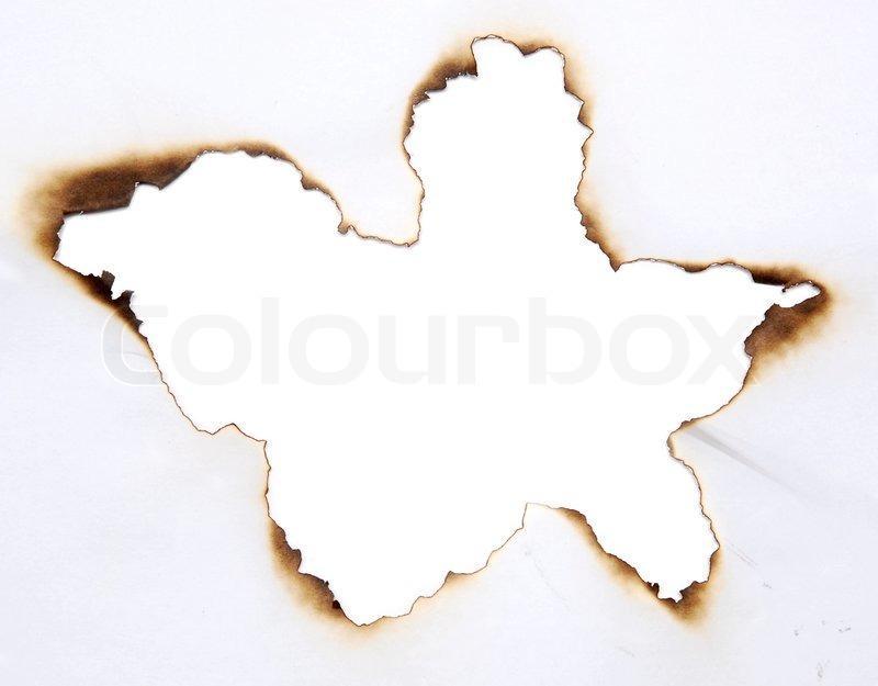 verbrannt loch in einem papier stock foto colourbox. Black Bedroom Furniture Sets. Home Design Ideas