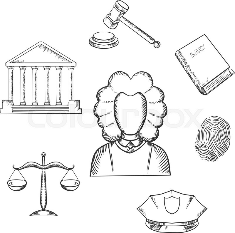 Legal scales of justice clip art sketch coloring page Coloring book for lawyers