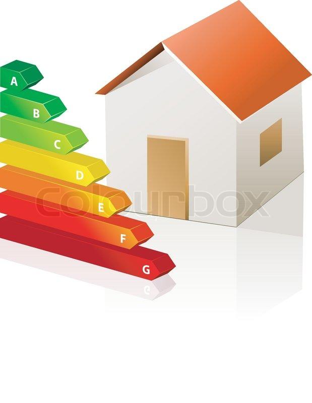 haus und energie klassifizierung vektor symbol auf wei em hintergrund vektorgrafik colourbox. Black Bedroom Furniture Sets. Home Design Ideas