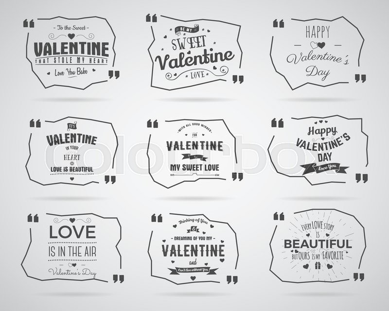 Valentine Day Watercolor Ink Splash Quote Blank Templates Quote
