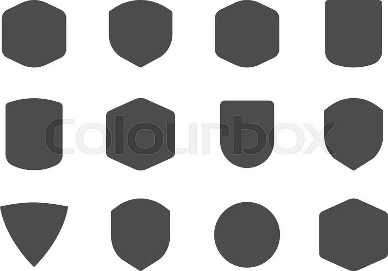 Set Of Vintage Frames Shapes And Forms For Logo Labels Insignias Use Travel Camping Emblems So On Vector Logotype Sillhouette Design