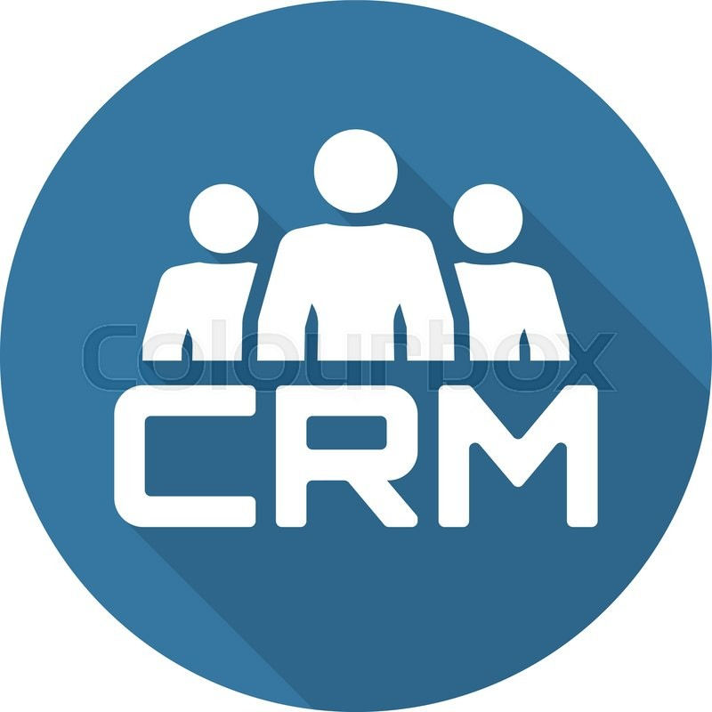Crm System Icon Business And Finance Isolated Illustration