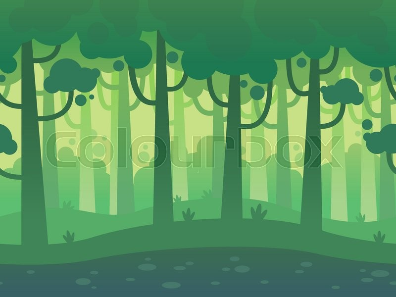 Game Seamless Horizontal Forest Background for side ...