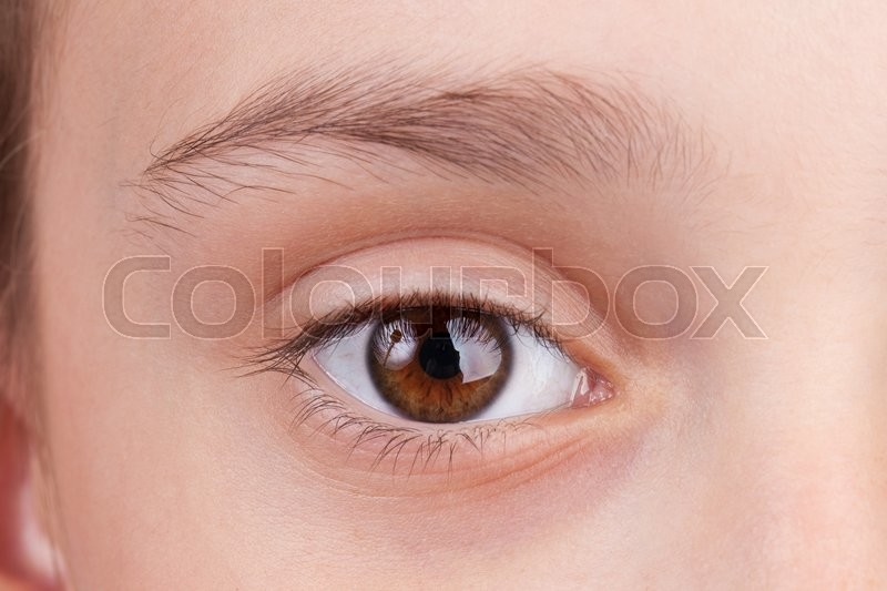 Detail of the face with open eye, stock photo