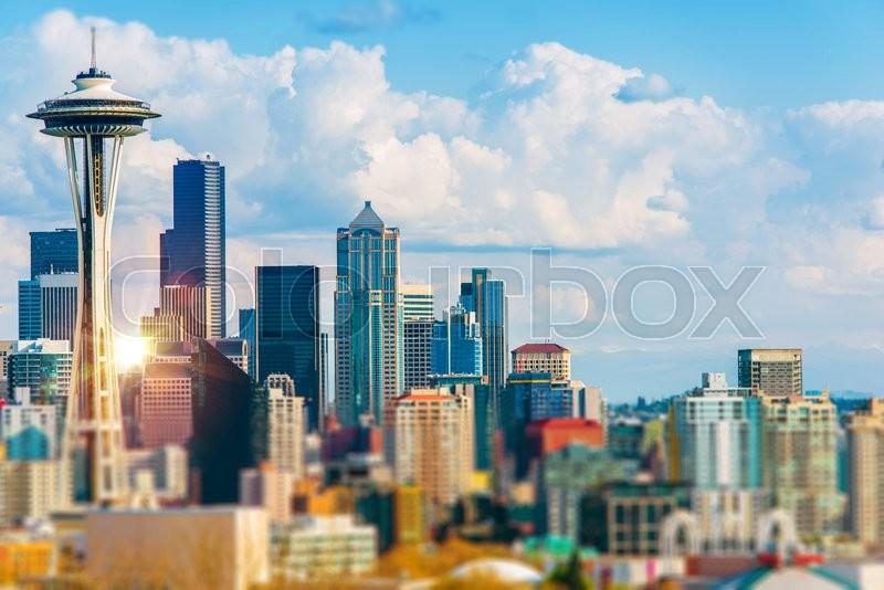 Seattle Cityscape. Seattle, Washington Downtown. United States, stock photo