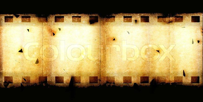 Old 35 mm movie Film reel,2D digital art | Stock Photo | Colourbox