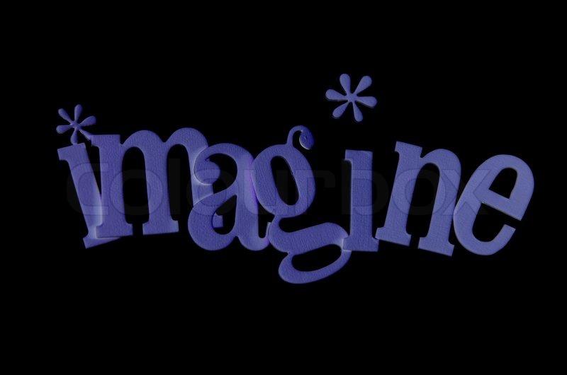 The Word Imagine | Stock Photo | Colourbox