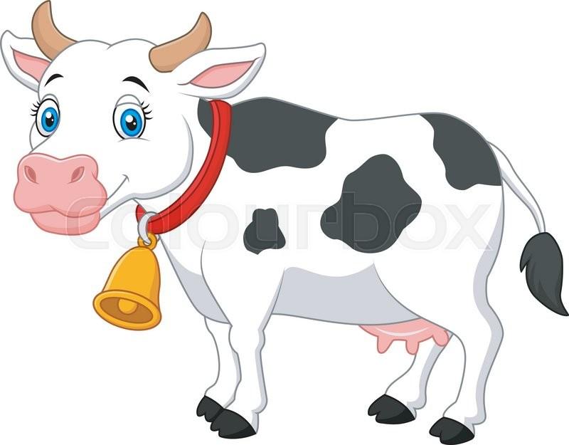 Imagenes Vacas Animadas: Vector Illustration Of Cartoon Happy Cartoon Cow