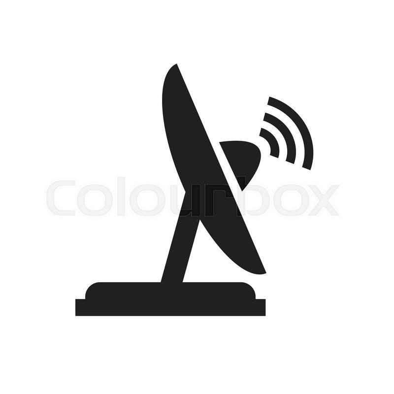 Vector satellite dish icon   Stock Vector   Colourbox