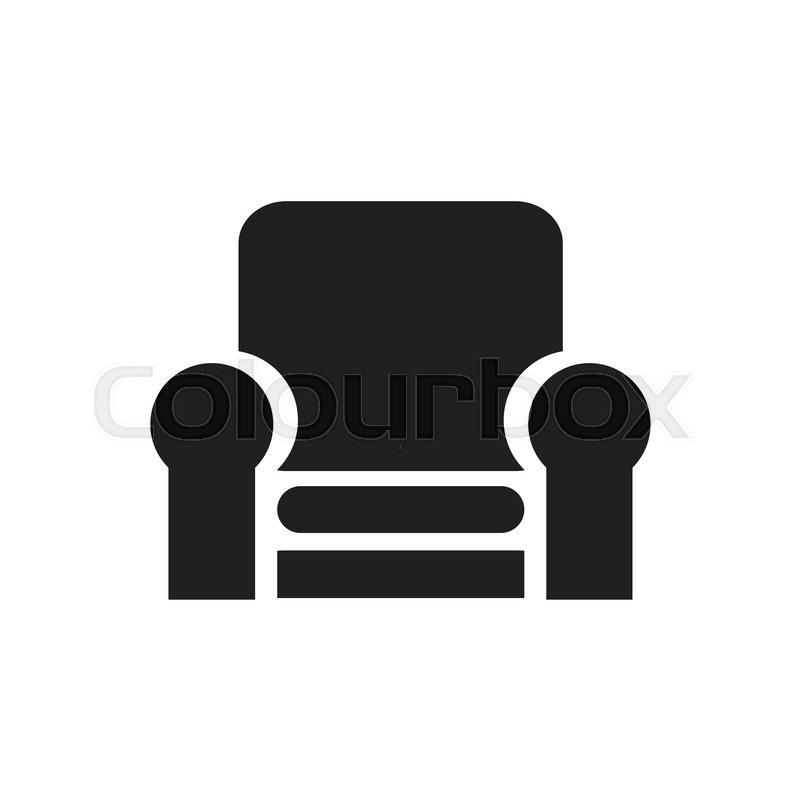 Sofa Vector Icon Stock Vector Colourbox