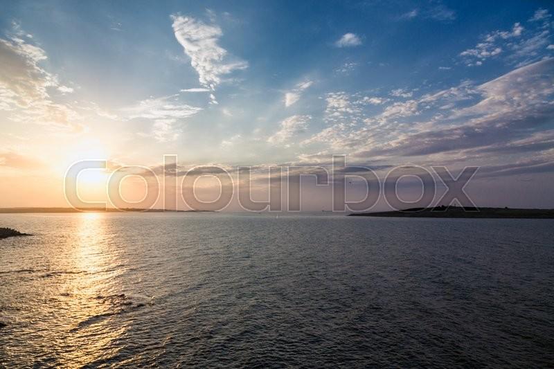 Sea sky sunset sun landscape, stock photo