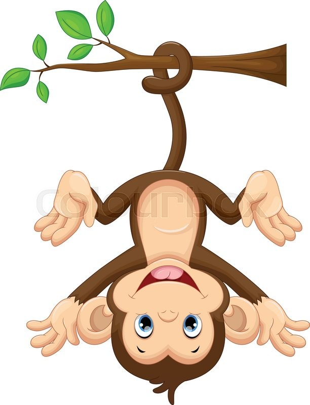 clipart monkey hanging from tree - photo #7