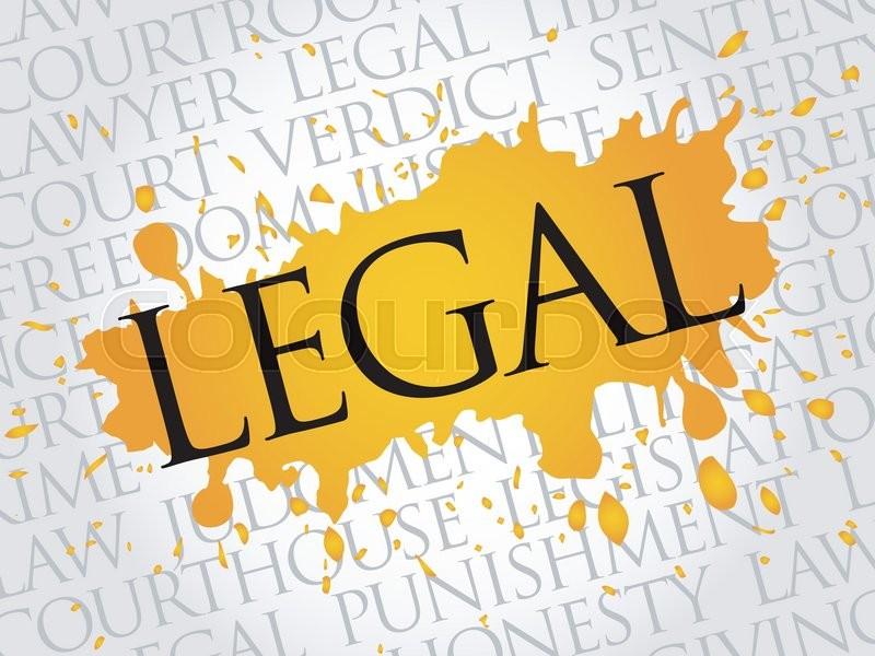 legal word cloud concept stock vector colourbox