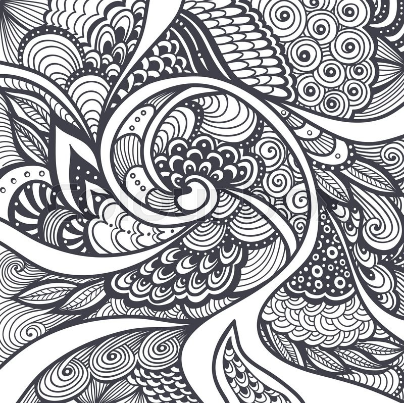 Abstract pattern or texture in zen tangle zen doodle style black Zendoodle Coloring Pages Disney Zentangle Pages Zendoodle Coloring Page Pumpkin