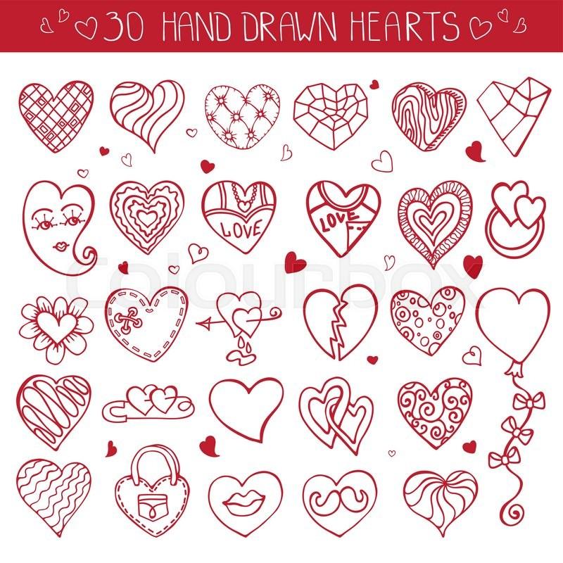 Heart Icons Setlentineweddinglove Symbolsntage Heart Love