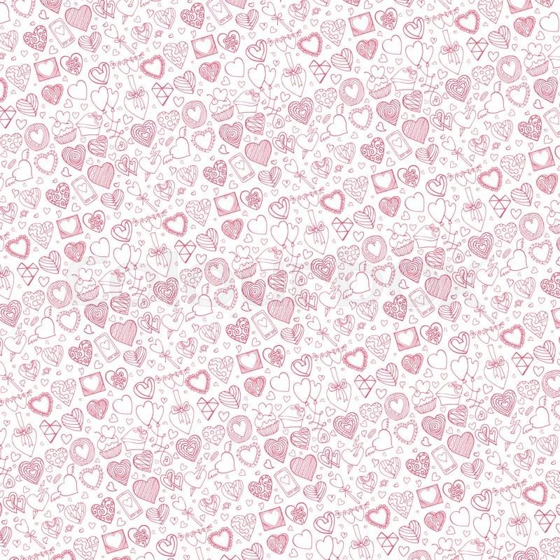 Heart icons pattern background.Valentine,wedding,love ...