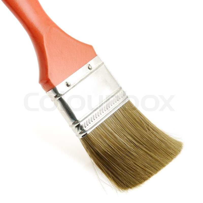 Painting Brush The Tool For It Is Isolated On A White Background