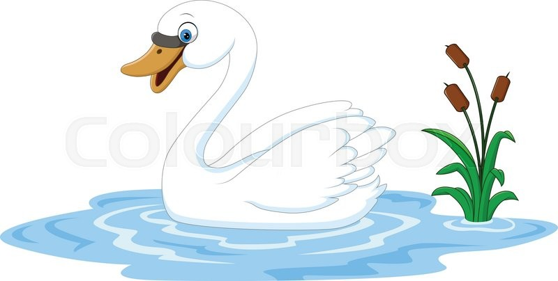 vector illustration of cartoon beauty swan floats on water clipart of farm animals with sunglasses clip art of farm animals free