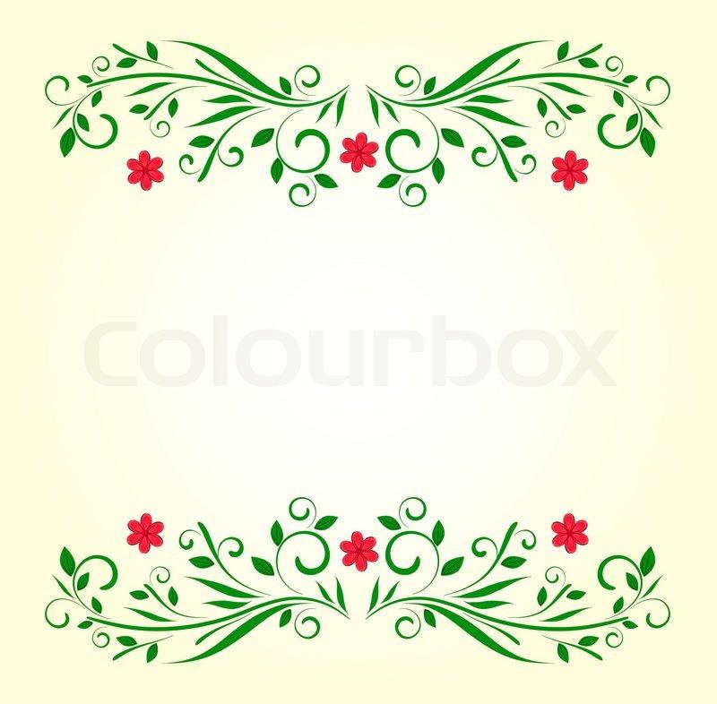 Vetor green floral template | Stock Vector | Colourbox