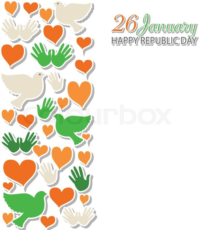 Happy Republic Day India Vector Stock Vector Colourbox