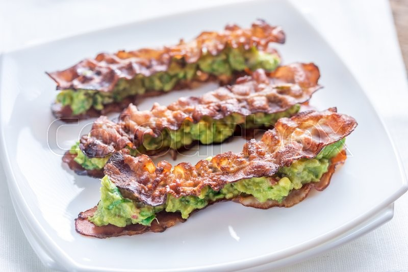 Bacon and guacamole sammies | Stock Photo | Colourbox