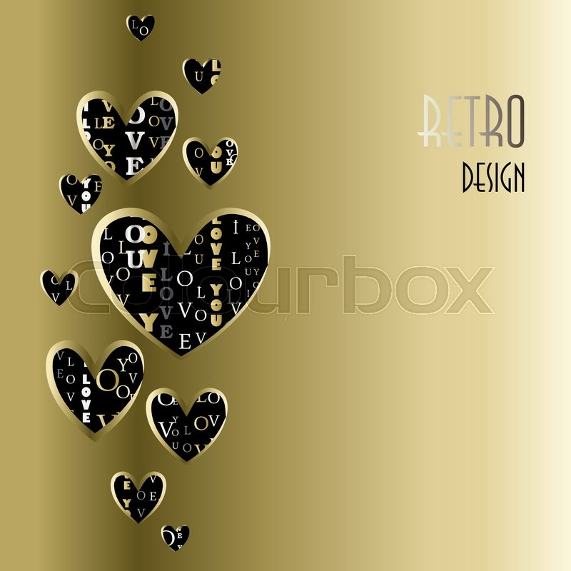 Love card Valentines card template Love background with black