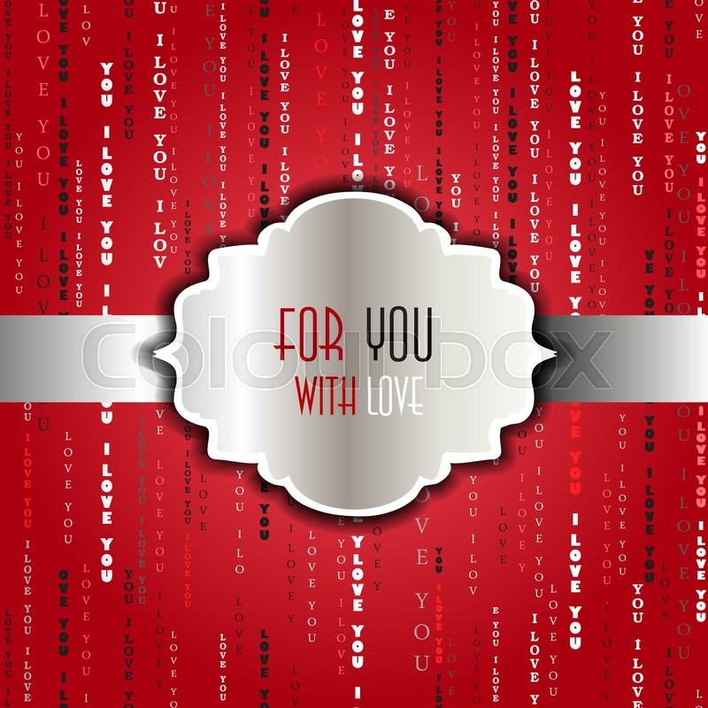 love card  valentines card template