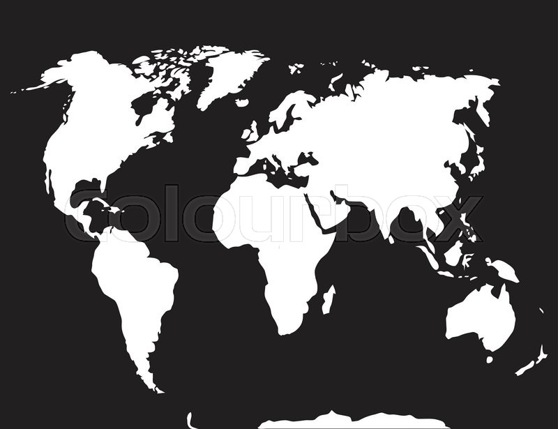 Map world black white atlas globe earth continent and ocean map world black white atlas globe earth continent and ocean europe and countries vector art abstract unusual fashion illustration stock vector gumiabroncs Image collections