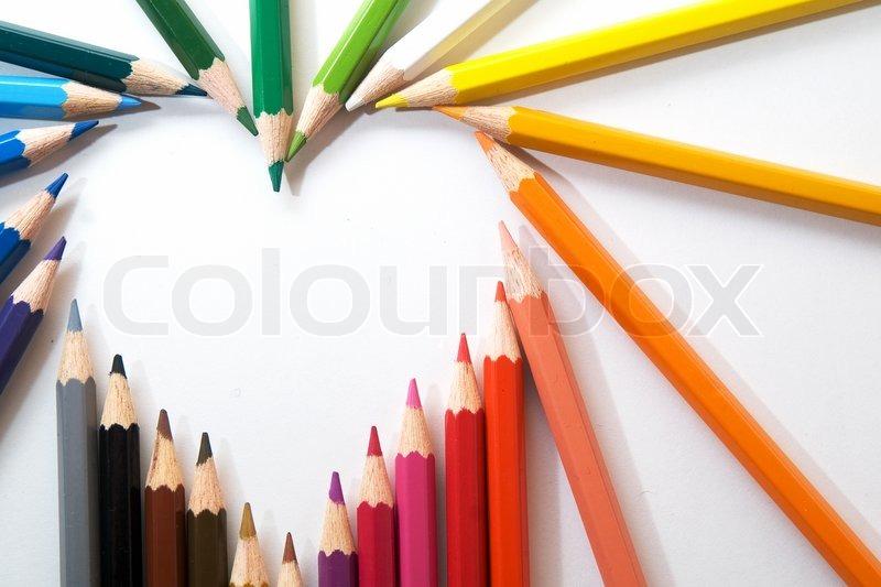 Color pencils, stock photo