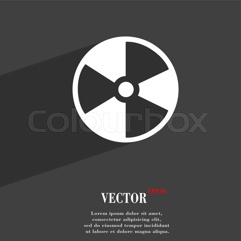 Radioactive Symbol Flat Modern Web Design With Long Shadow And Space