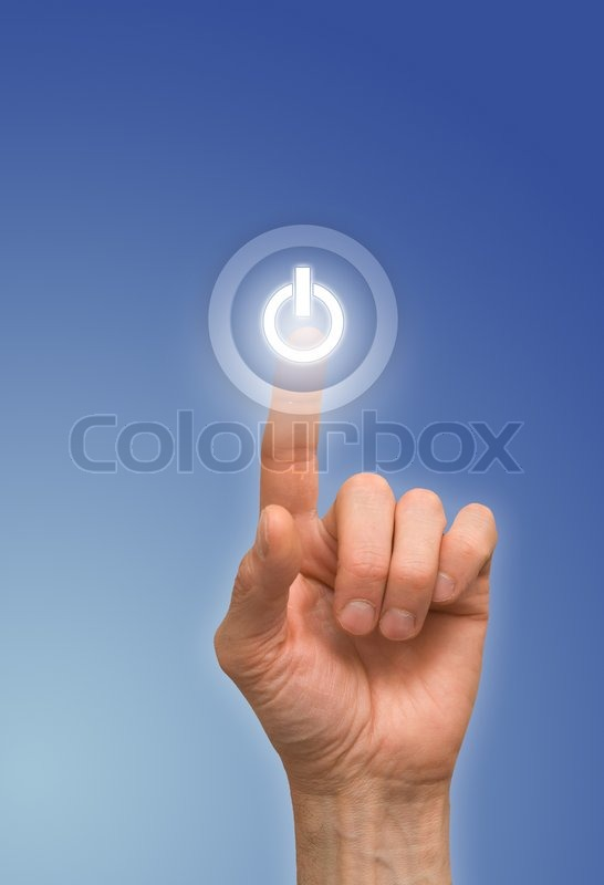Stock image of 'One finger'