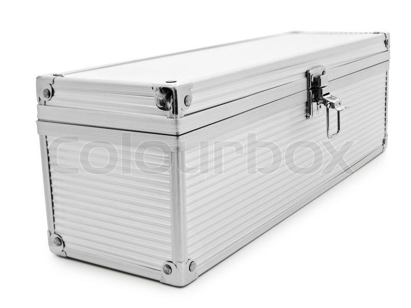silver color aluminum box over the stock photo colourbox