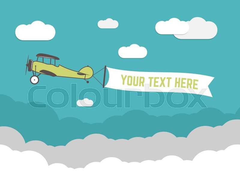 Stock Vector Of Vintage Airplane Banner And Travel Infographics With Empty Form Poster For