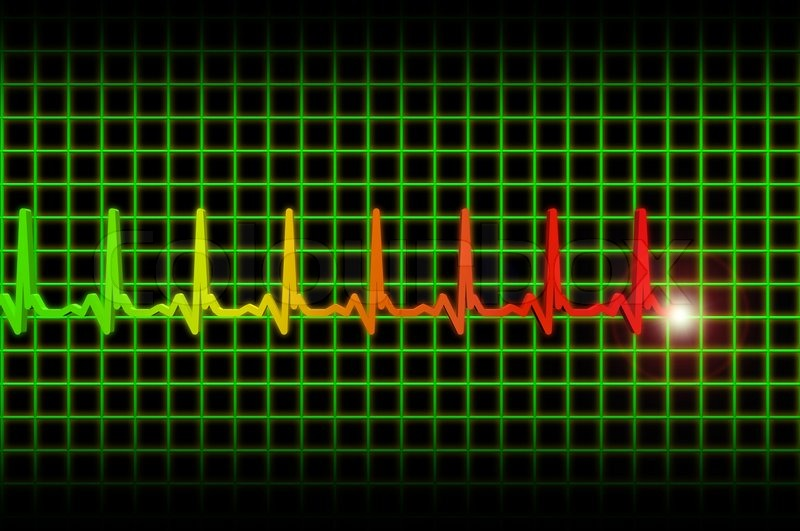 Human heart beat ekg/ecg pulse header | Stock Photo ...