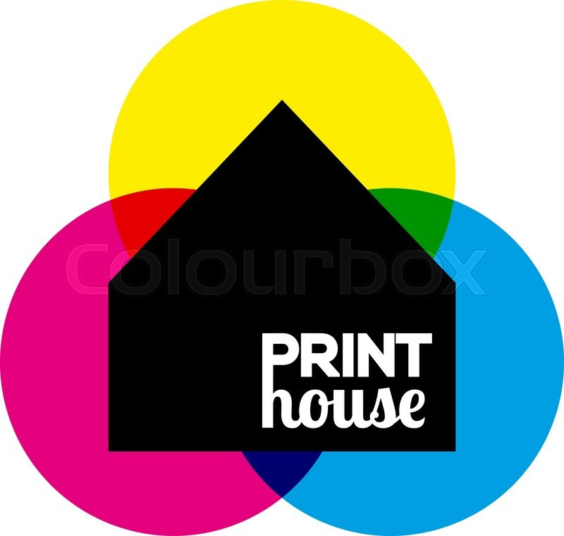 Vector Illustration Of Printing Icon Print House Ink Symbol Design