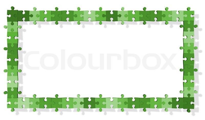 Jigsaw puzzle frame | Stock Photo | Colourbox