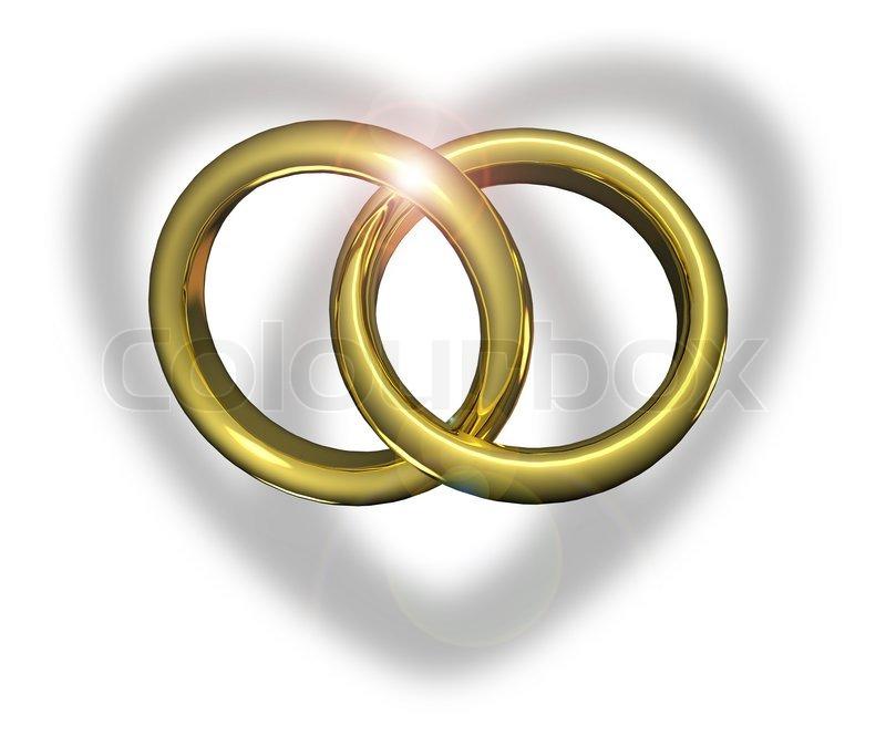Stock bild von 'goldene hochzeit ringe miteinander verbunden'