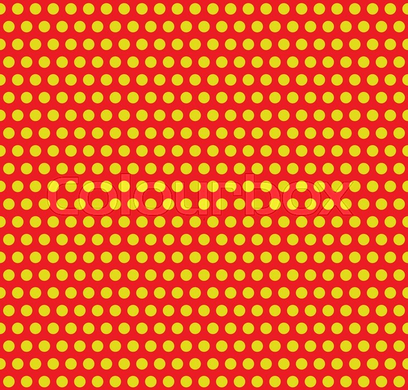 dotted pop art polka dot background yellow red repeatable pattern with circles vector
