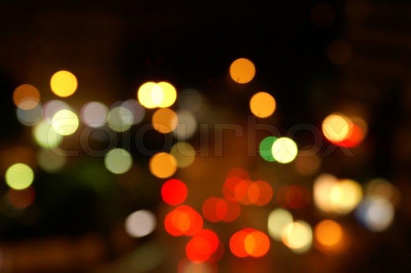 Color bokeh (light spot) night, stock photo