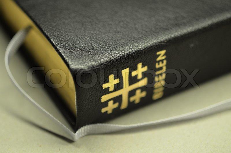 Den Hellige Bibel, Konfirmation, Stock Foto