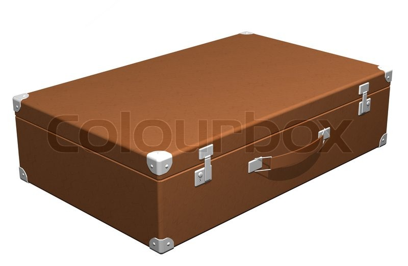 Classic leather travel suitcase | Stock Photo | Colourbox