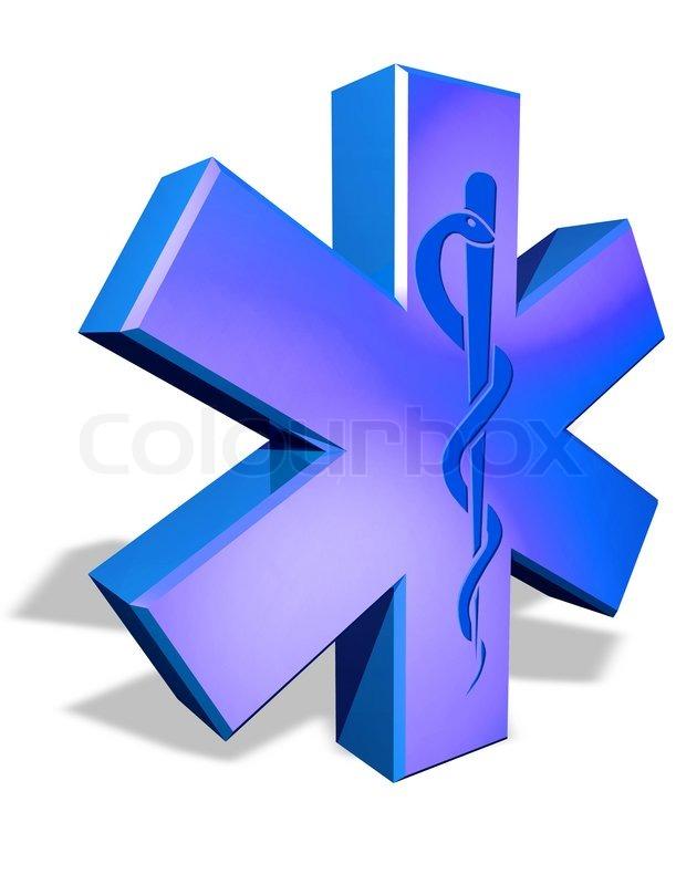 Medical Cross Symbol With Caduceus Snake Stock Photo Colourbox