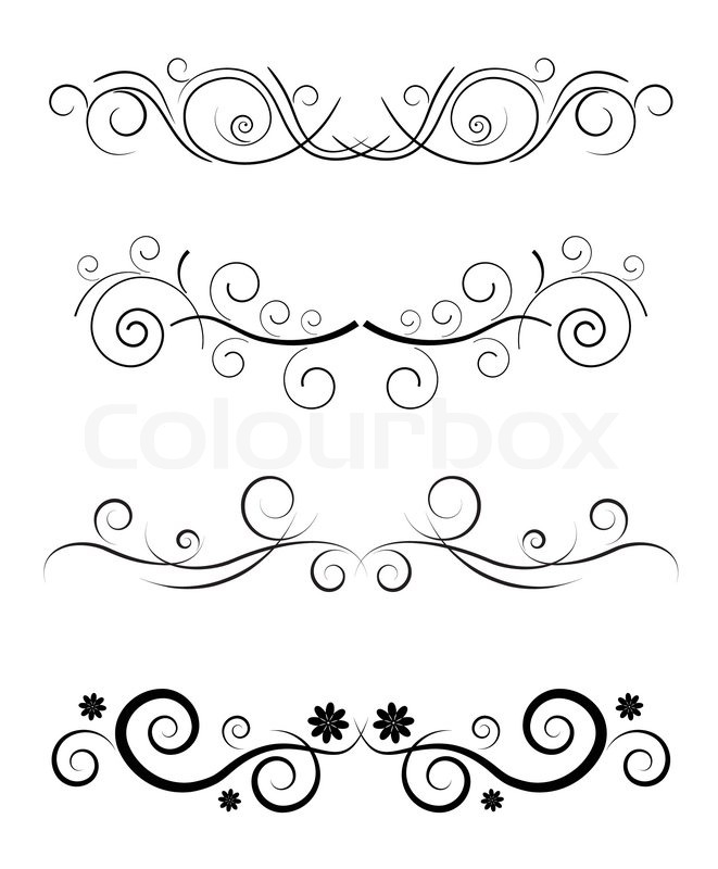 vector floral black border template stock vector colourbox