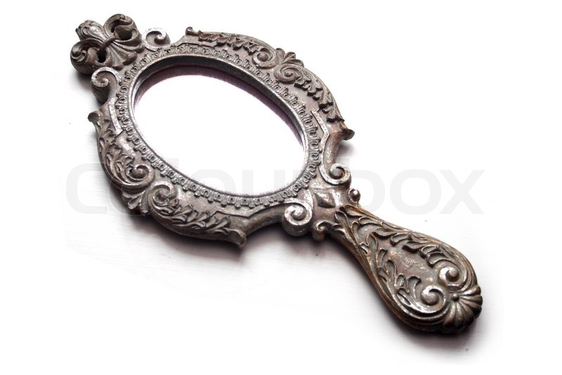 Old Brass Hand Mirror Stock Image Colourbox