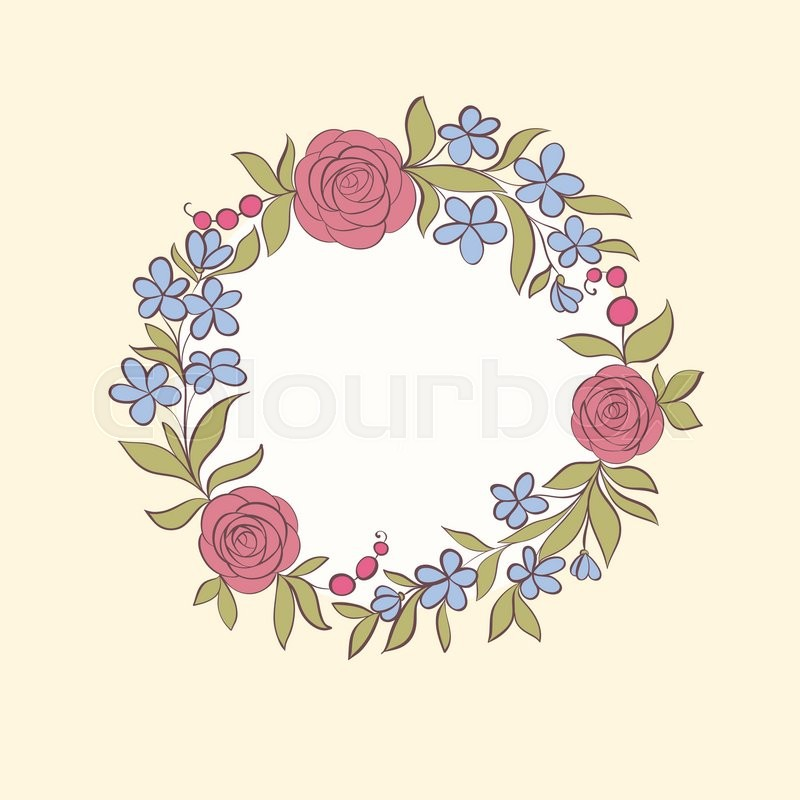 Beautiful greeting card of floral wreath hand drawn background for beautiful greeting card of floral wreath hand drawn background for greeting cards and invitations of the wedding birthday mothers day and other holiday m4hsunfo