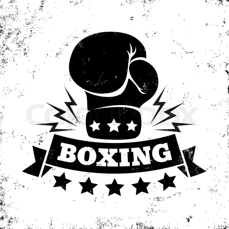 Vintage Vector Logo For Boxing With Glove Stock Vector