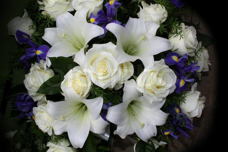 Funeral Blumen für Beileidsbekundungen | Stockfoto | Colourbox