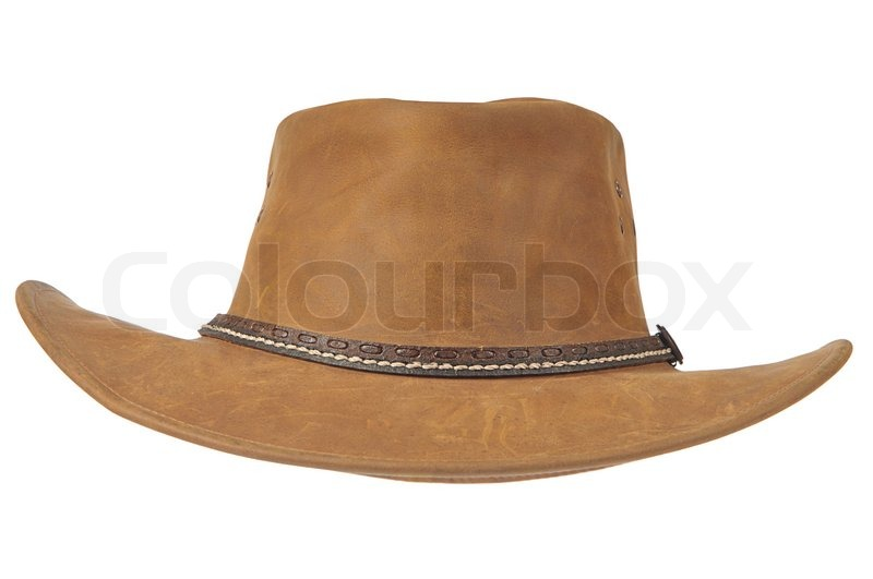 Cowboy Hat Front View A brown cowboy hat in front on